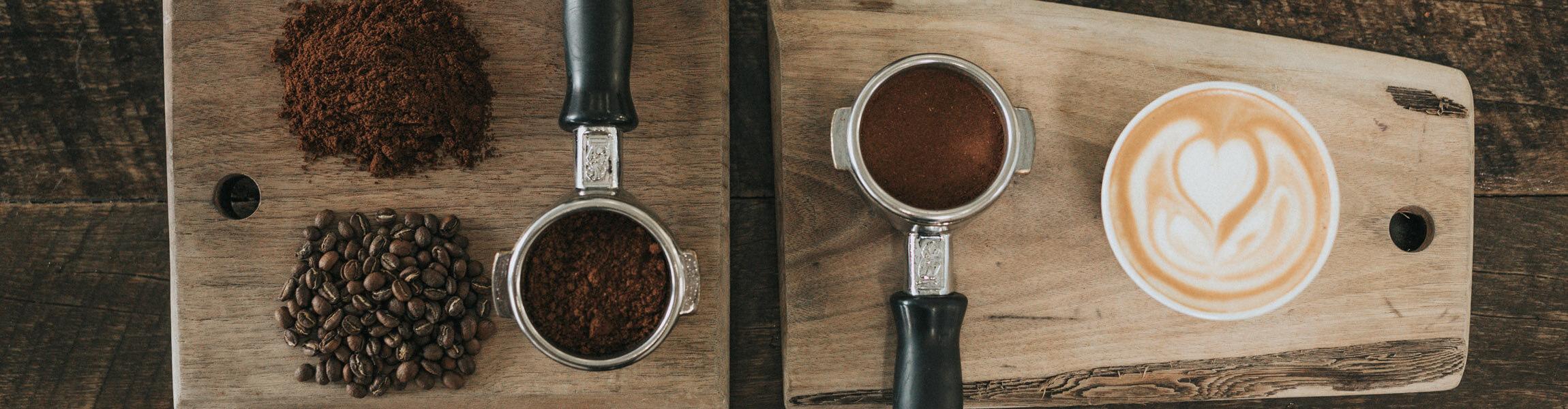 Espresso Bohnen und Kaffee