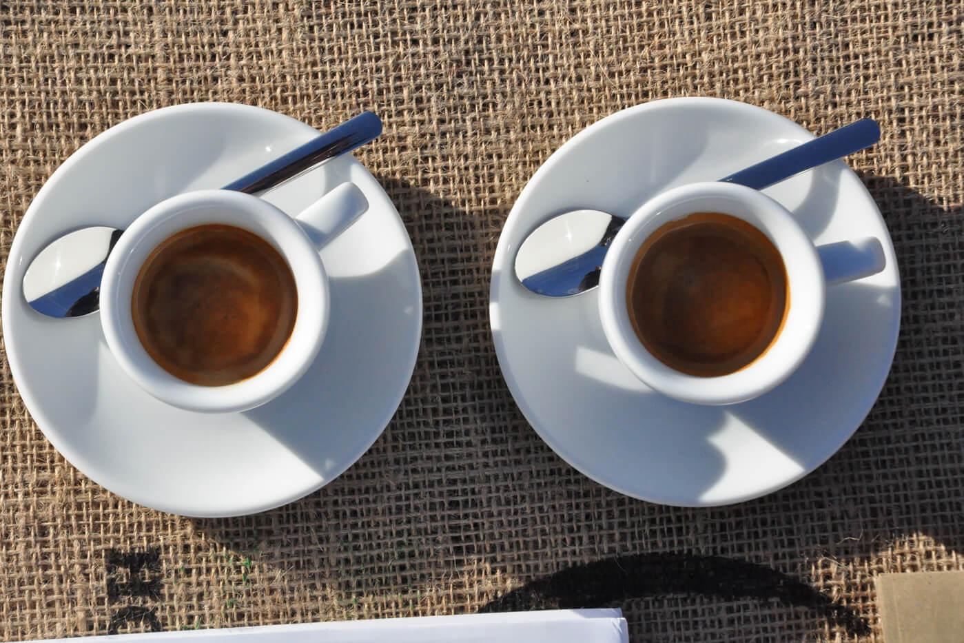 Espresso Kaffeegenuss in 2 Tassen
