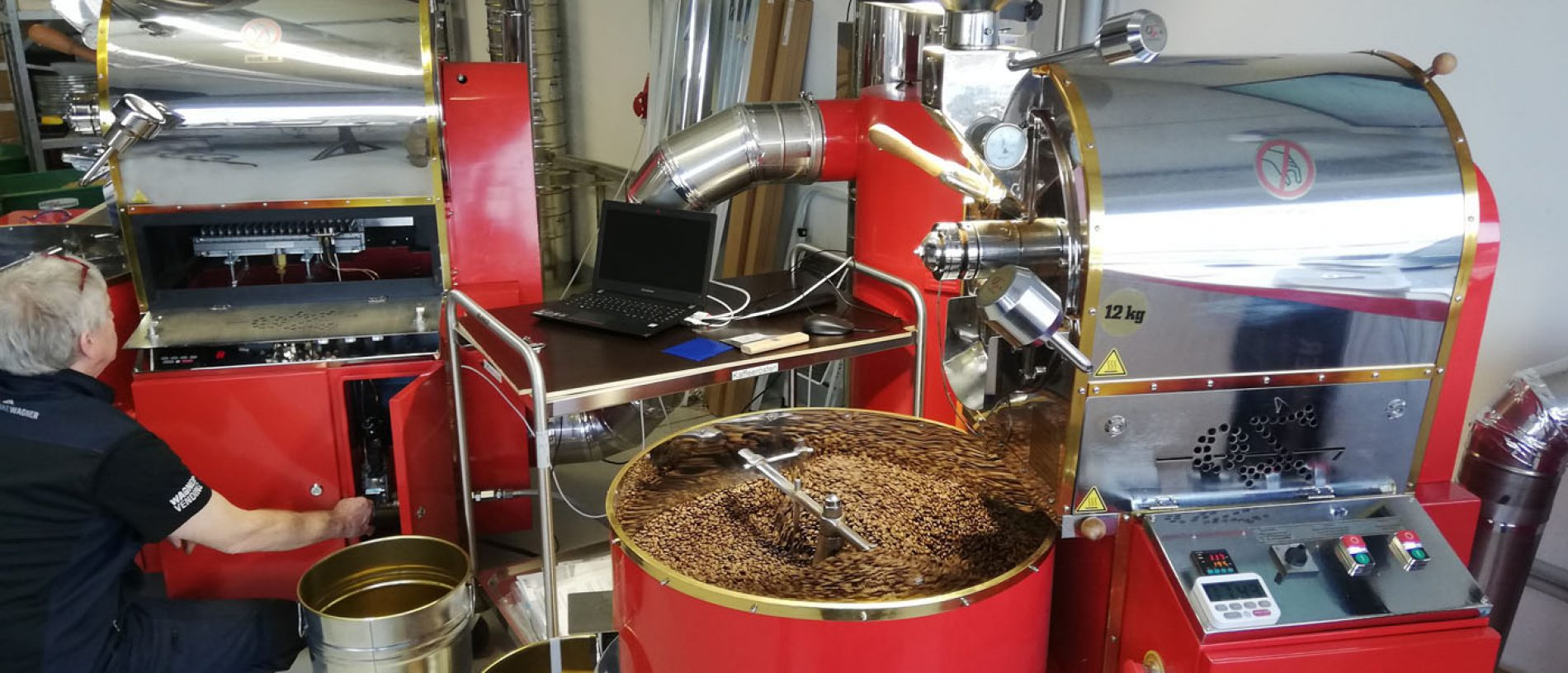 Kaffeerösterei 12 kg Röster 1