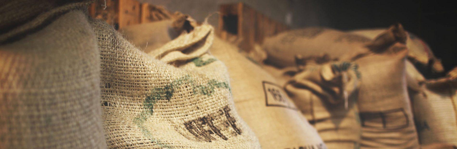 Rohkaffeesäcke Kaffeesorten